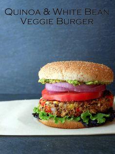Quinoa White Bean Veggie Burger