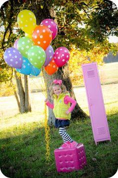 Polka dot balloons :D