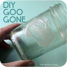 DIY Goo Gone - The Burlap Bag