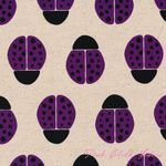 Ellen Luckett Baker Stamped Ladybugs Purple [IMPORT-JG41500-504C] - $19.95 : Pink Chalk Fabrics is your online source for modern quilting cottons and sewing patterns., Cloth, Pattern + Tool for Modern Sewists