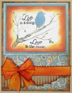"""Inky Antics """"Life's Song"""" from Songbird clear set"""