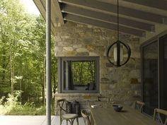 Outdoor livingroom    Bromont House by Paul Bernier Architecte
