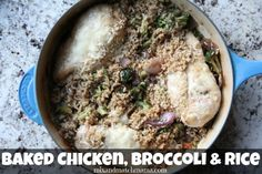 Baked Chicken, Broccoli And Rice Recipe | Mix and Match Mama