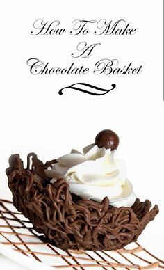 chocolate basket with brownies