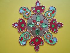 decorated rangoli board
