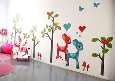 little fantasy forest on the walls