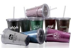 "Glitter Slurpy.     Put a little bling in your cup and add some glitter to this 16 oz double wall acrylic tumbler with straw. This item is top rack dishwasher safe. It includes a white gift box  6"" H x 2.5"" D      [ INQME-HYOGR ]  144 @ $5.95 1 color 1 location  Contact dan.dour@dbincorporated.com for details"