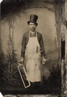 ca. 1875, [tintype, occupational portrait of a butcher]  via the International Center of Photography