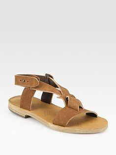 Love the roughness of these flat leather slingback sandals (Maison Martin Margiela). Full price 460, currently going for $322 but that still seems a ridiculous amount to pay for sandals...