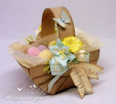 .Design by Jenny: Easter - Basket and tutorial :)