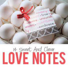 14 sweet and clever love notes  #howdoesshe #cleverlovenotes #lovenotes #creativelovenotes #valentinesday #valentinesnotes howdoesshe.com