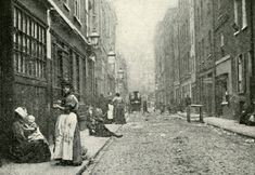 This is Dorset Street in Whitechapel, circa 1888. Millers Court is situated on the left of this photo - Millers Court was the site of Jack the Ripper's 5th canonical victim, Mary Jane Kelly.