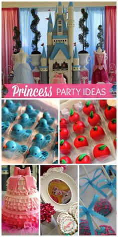 All the Disney princesses attend this royal girl birthday party!  See more party ideas at CatchMyParty.com!