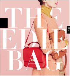 Layered Text/Image The edie bag