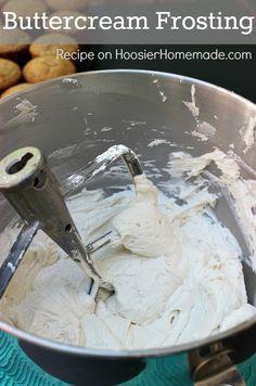 Buttercream Frosting :: Recipe on HoosierHomemade.com