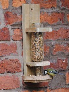 DIY WINE BOTTLE BIRD FEEDER
