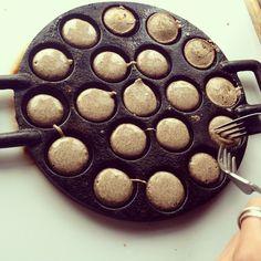 Mini buckwheat Dutch pancakes