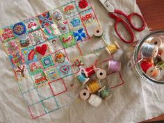 49 square embroidery