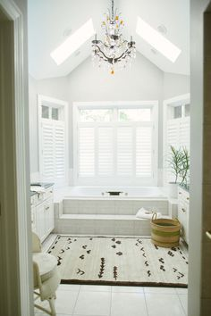 White bathroom | Photography: Yazy Jo - yazyjo.com  Read More: http://www.stylemepretty.com/living/2014/09/22/la-la-lovely-home-tour/