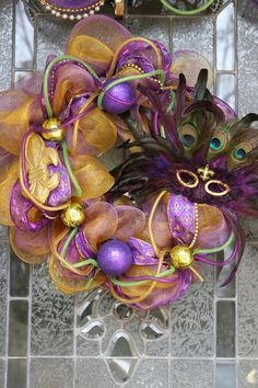 Love this!!! Will def have to make one like this for Mardi Gras :) just like new orleans square, why can't everything be decorated like this year-round?