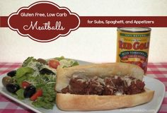 Red Gold Gluten Free, Low Carb Meatballs for Subs, Spaghetti, or Appetizers