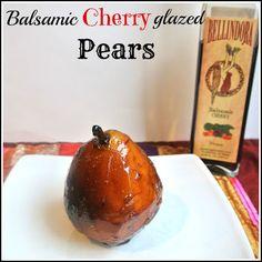 Balsamic Cherry Glazed Pears