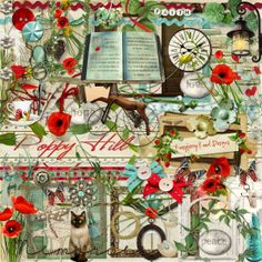 A beautiful inspiring themed scrapbook kit from Raspberry Road.