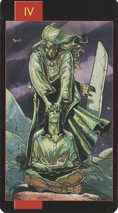 Gothic Tarot of Vampires- The Emperor