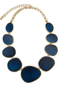 $92.75 - Enamel and metal necklace  by Kenneth Jay Lane