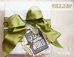 Gift Tags/Ornaments using the new Heidi Swapp Believe Paper Pack...Maggie Massey for Heidi Swapp #heidihomemadeholiday