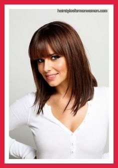 Hairstyles with Bangs and Layers for Medium Hair