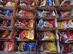 Welcome bags w/ easy snacks, water, guest list, list of activities, etc.