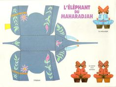 DIY - Vintage Elephant & Maharadjah - Free JPG Printable