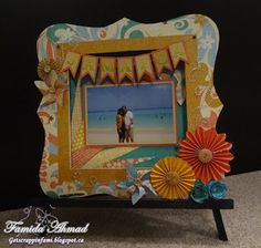 Bracket Frame by Famida Ahmad using CTMH Surf's Up paper