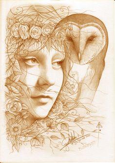 Blodeuwedd- Welsh Goddess of the spring