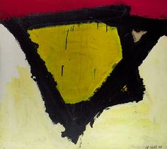 """Al Held Untitled """"N"""", 1960. Acrylic on paper mounted on canvas"""