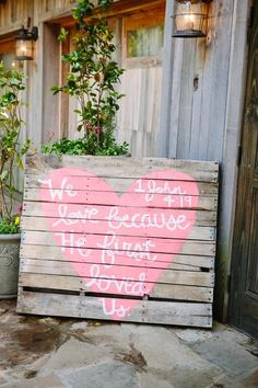 Sunkissed Tangles: Rustic DIY Wedding @Lacie Norman Norman Norman Anderson it could be cute to have a sign on a pallet like this