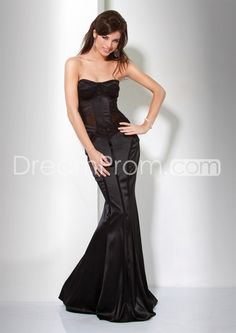 Sexy Mermaid Strapless Floor-Length Evening Dresses