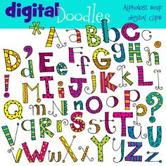 kpmdoodles ~ digital clip art, digital stamps and paper packs ~ via Etsy.