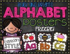 chalkboard alphabet, bright chalkboard
