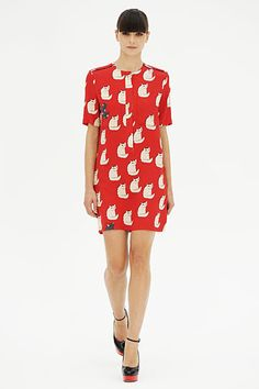 Victoria by Victoria Beckham Spring 2012. Love the kitty print!