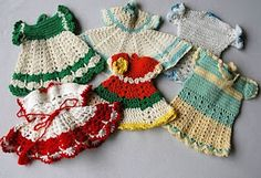 Adorable Vintage Crocheted Pot Holders