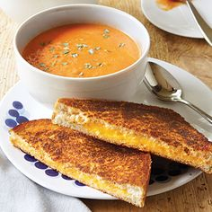 Tomato soup and grilled cheese. Yes Please.