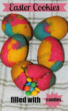 Easter Cookies filled with candies