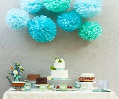 Pom pom decorations are essential!