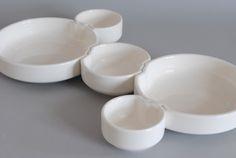 Serving bowls, interlocking design