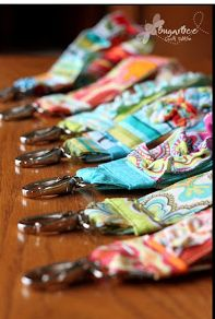 Here's how to make those ruffled key fob things for your keychain - - this way I can have an easy way to carry my keys! - - I'm thinking of making bunches of these for gifts