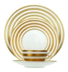 Gold stripe china pattern