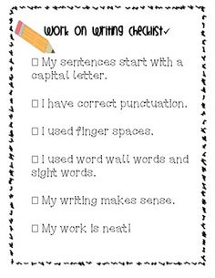 checklist for writing