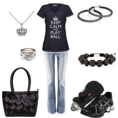 Total baseball mom attire!  I need this shirt